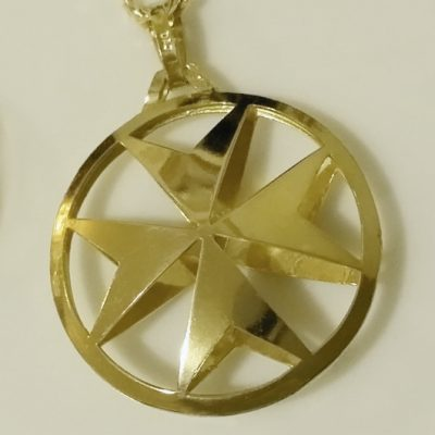 Maltese cross archives beloved treasures 16900 9ct gold maltese cross double sided pendant 26mm mozeypictures
